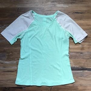 Lululemon- Mint green active shirt